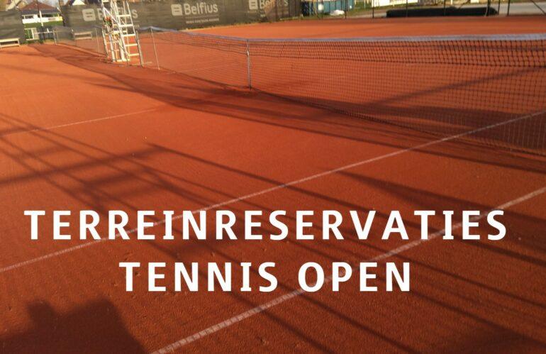 Tennisterreinen openen!